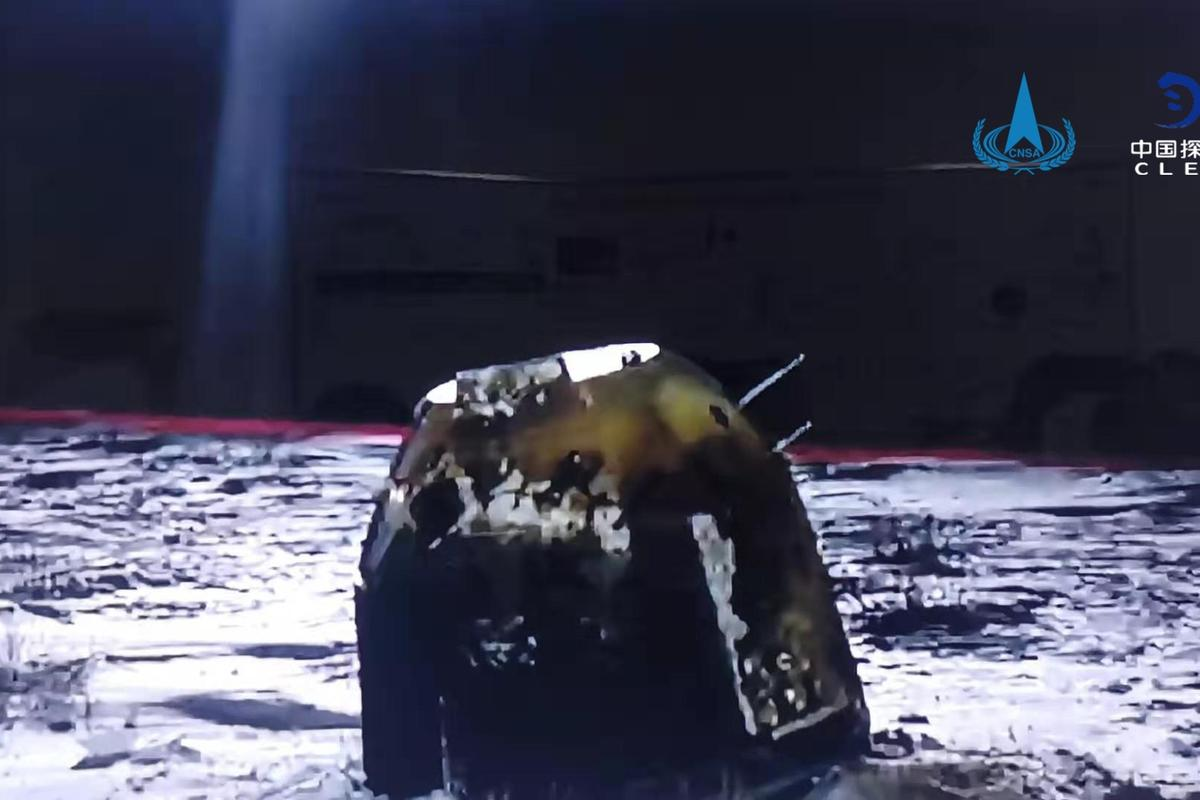 China's lunar sampler touched down in the Dorbod Banner region of Inner Mongolia at around 2 am Beijing time on December 17