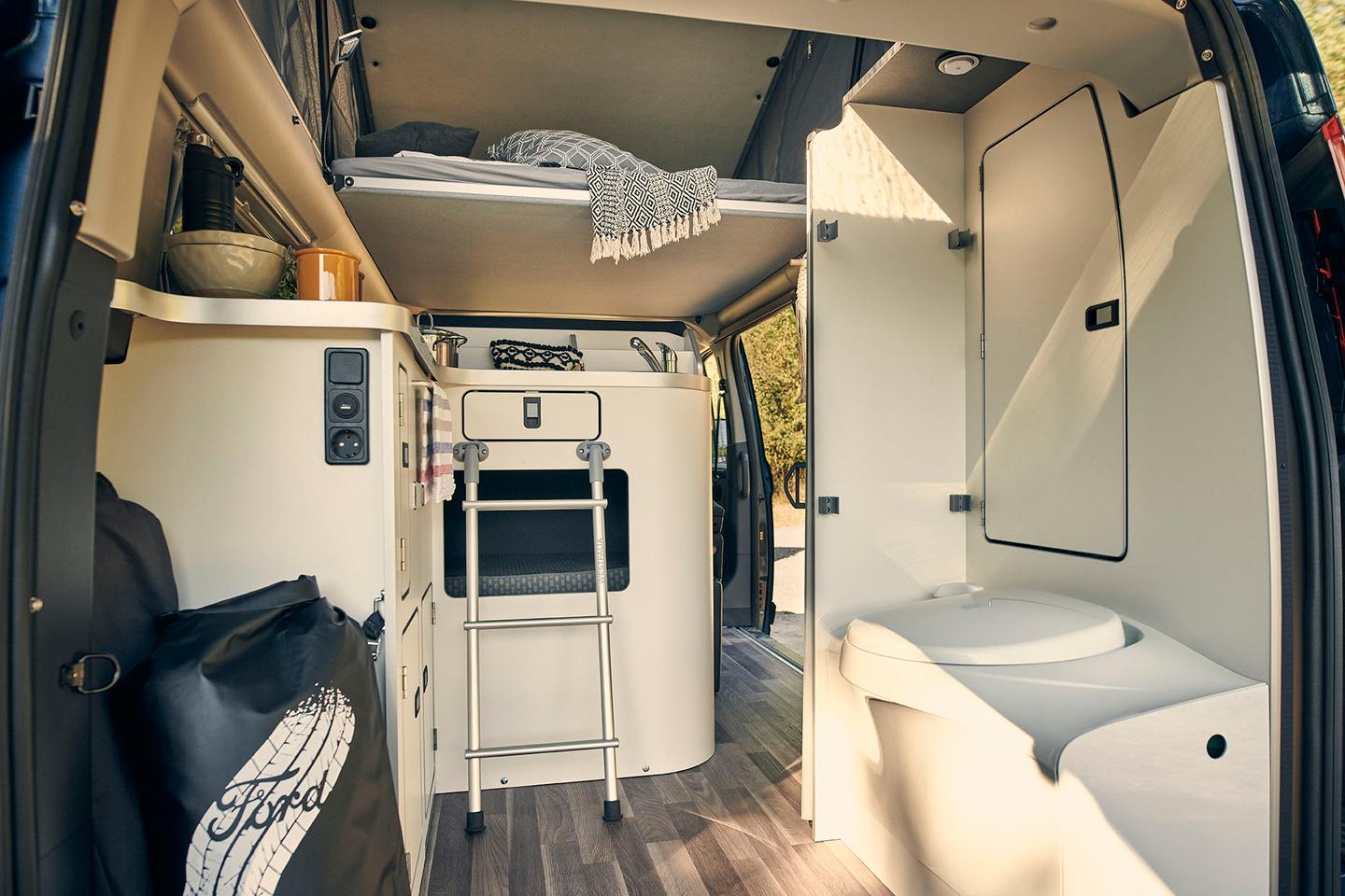 The Nugget Plus brings a rear bathroom, central L-shaped kitchen, front dining lounge and available pop-up roof