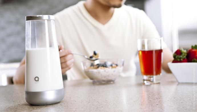 Milkmaid - A smart milk jug that detects when the milk is off and reminds you to buy more - Stylish design