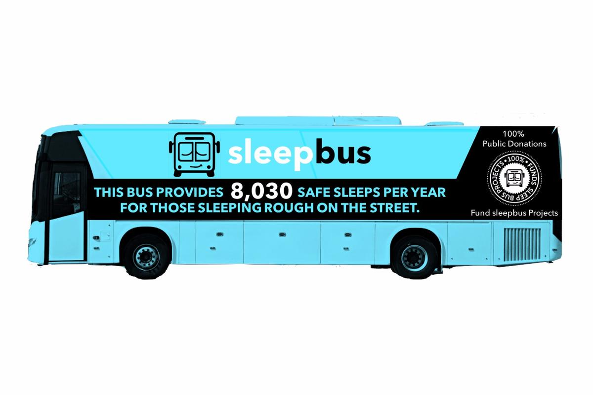 Each Sleepbus will feature 22 individual sleep pods, two toilets, 22 lockers for personal items, under-bus storage and eight pet kennels