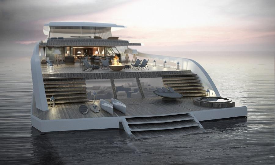 """The Pastrovich X-Easy concept yacht is designed for a """"beach house"""" type lifestyle"""