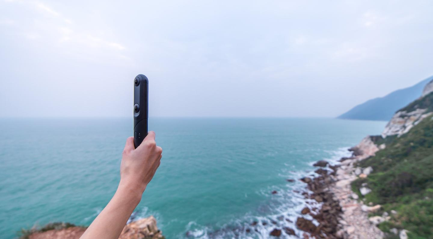 One charge of the QooCam's 2,600-mAh battery should be good for up to three hours of continuous shooting