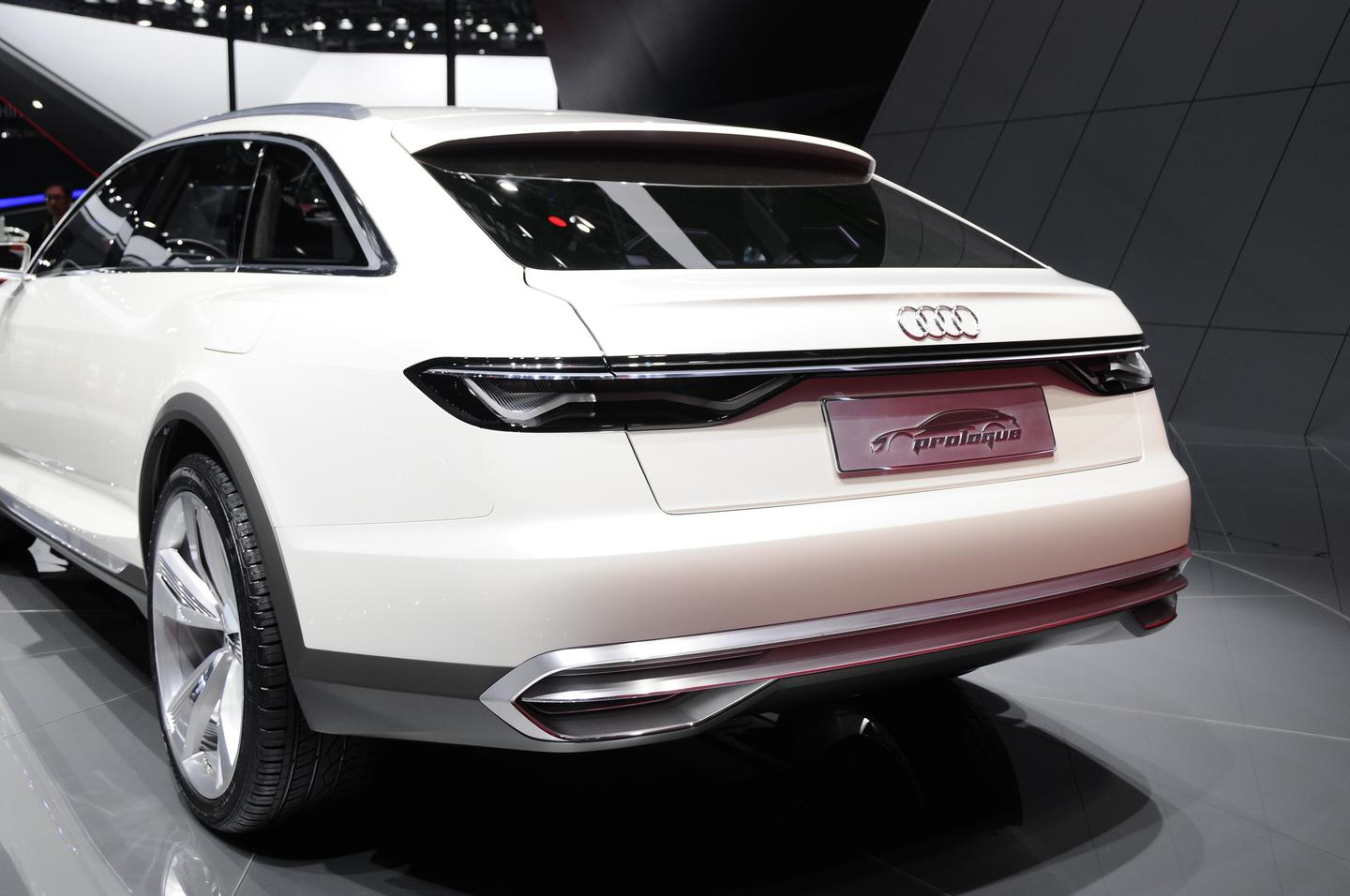 The new Prologue allroad concept shows a new rear apron design that ties the exhaust system into the overall rear fascia aesthetic