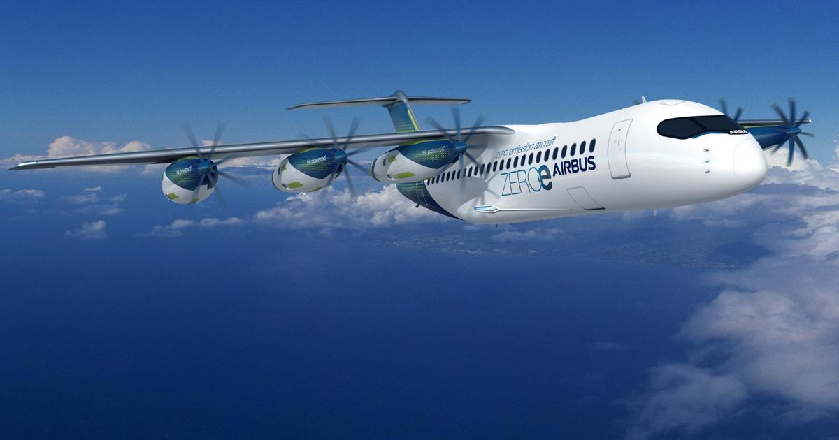 Airbus proposes detachable hydrogen propulsion pods for aircraft