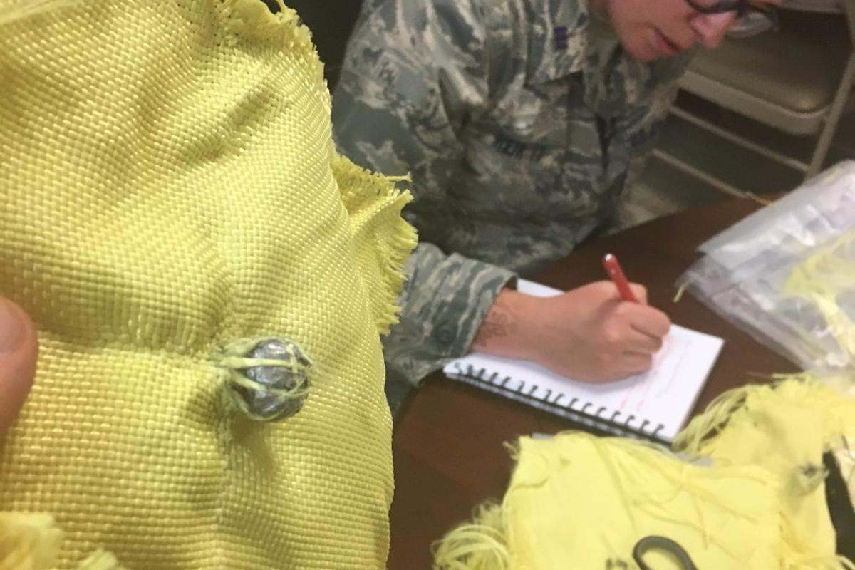 Air Force Academy Cadet 1st Class Hayley Weir created a goo-like substance that can stop bullets