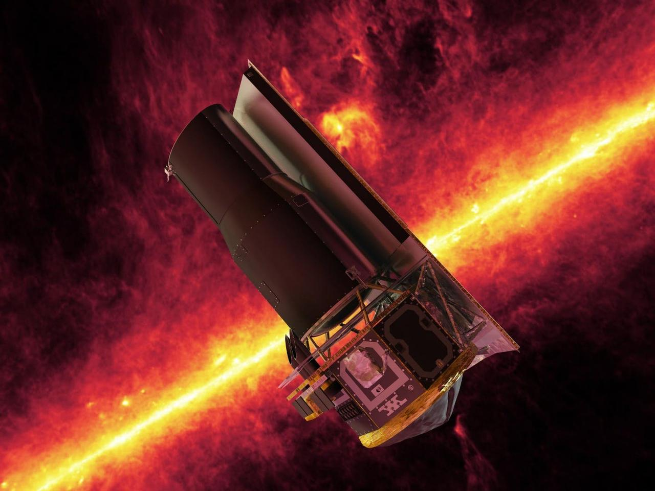 Artist's concept of the Spitzer Space Telescope