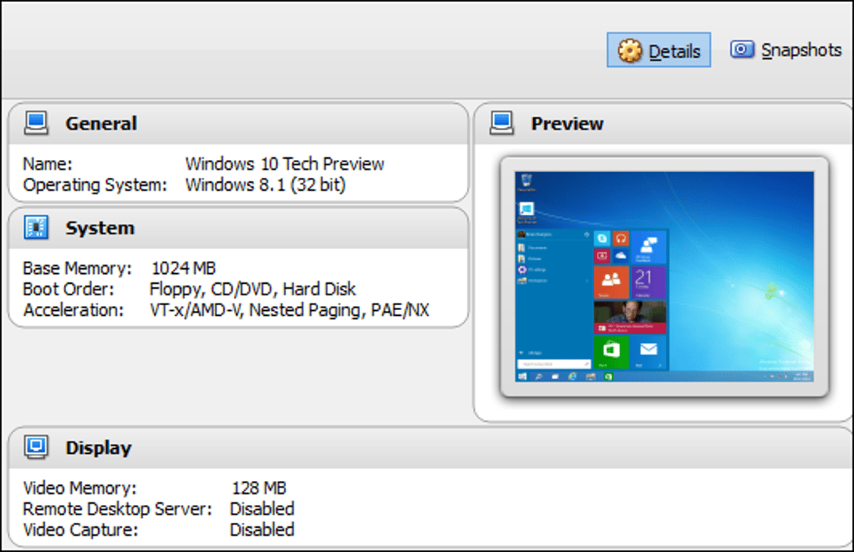 Test drive Windows 10 Technical Preview the easy way in VirtualBox