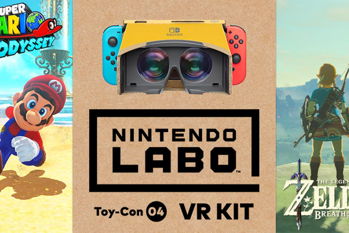 Nintendo has announced that Super Mario Odyssey and The Legend of Zelda: Breath of the Wild will get updates to make them compatible with the Labo VR Kit