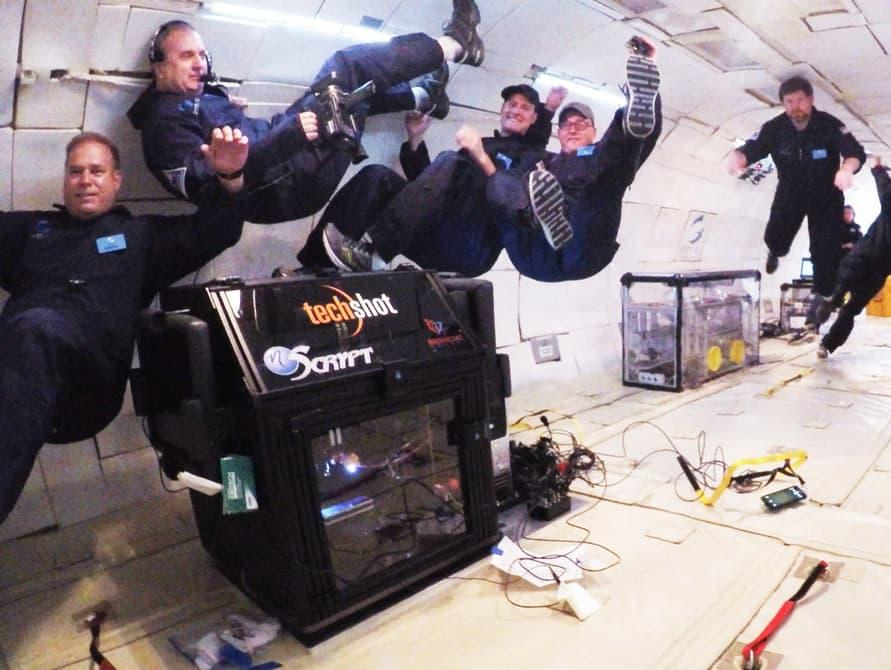 Boland is part of the team that 3D printed heart structures aboard an airplane that simulates weightlessness30,000 feet in the air