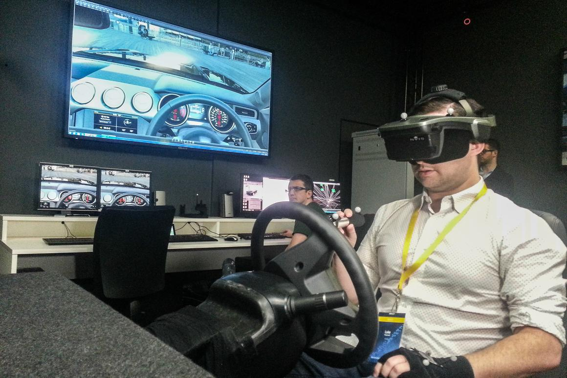 Ford Immersive Vehicle Environment: hand held torch lets users light up different areas