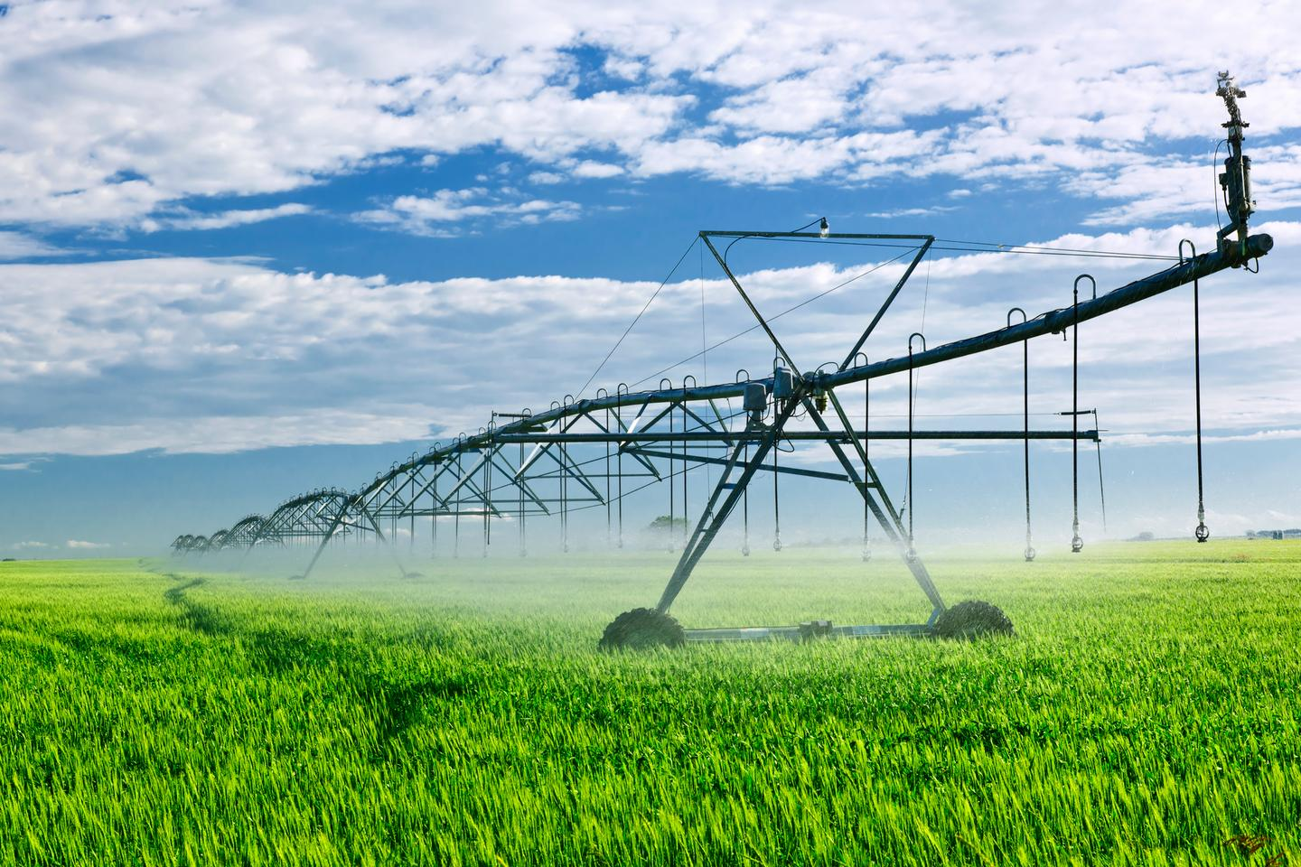 The technology could ultimately be incorporated directly into irrigation systems