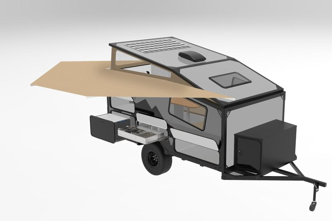 Into the Wild plans to equip the XT12 with a slide-out outdoor kitchen, 270-degree awning and 220 watts of solar