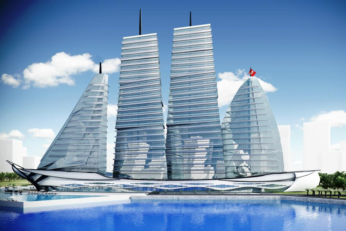 The proposed White Sails Hospital and Spa (Image: Vasily Klyukin)