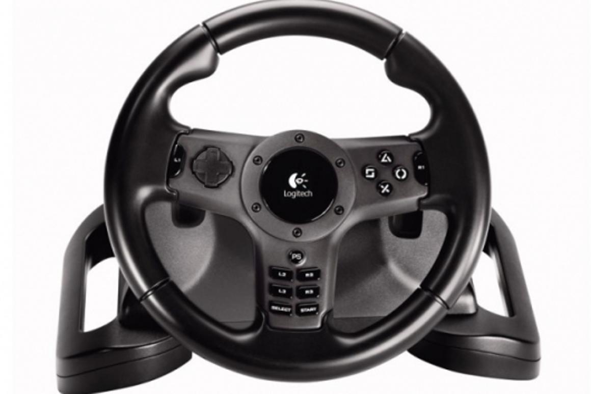 The Logitech Driving Force Wireless force feedback wheel