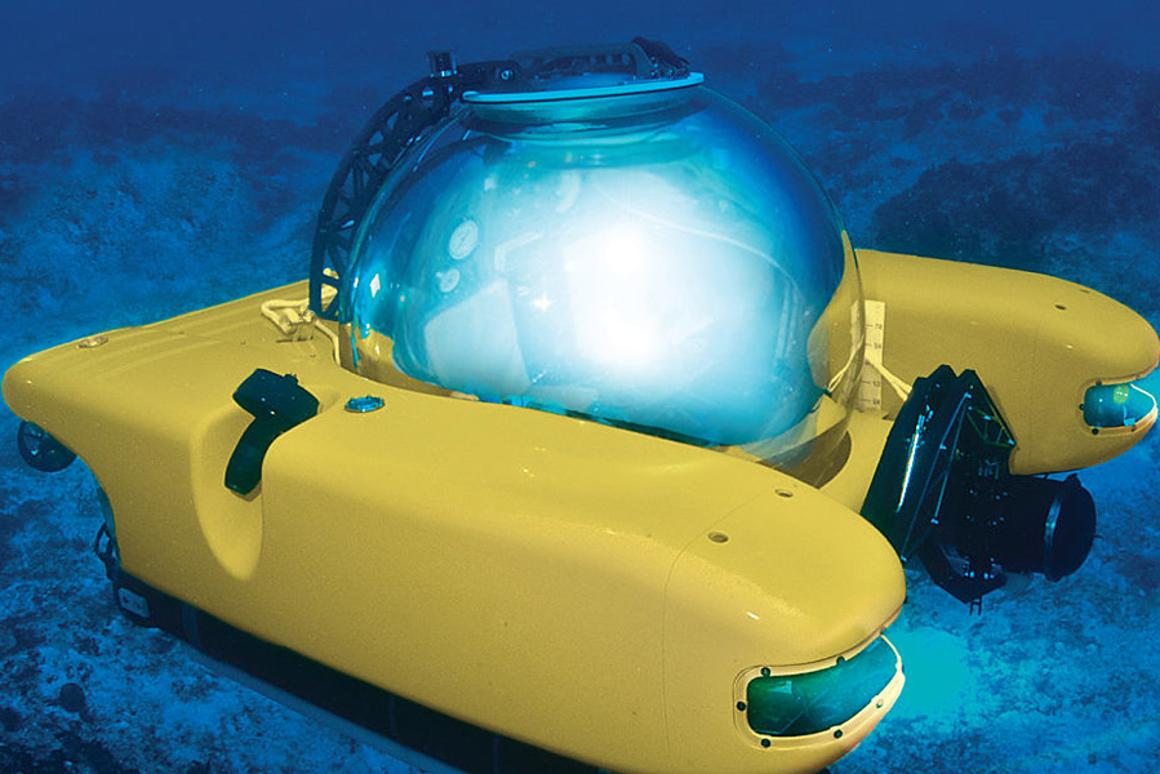 The Personal Submarine provides great underwater adventuring for two