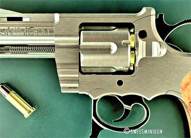 The incredible manufacturing tolerances required to produce the C1ST revolver are clear in this extreme close-up (Photo: SwissMiniGun)
