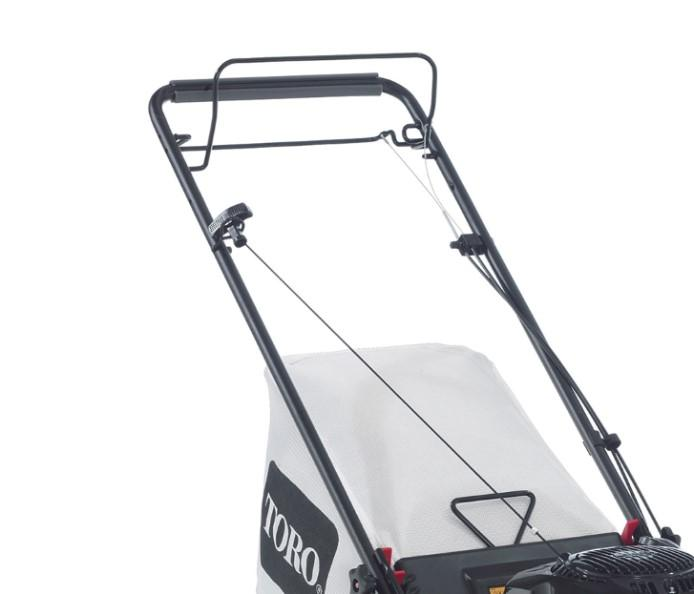 Toro's Recycler space-saving mower can be stored vertically