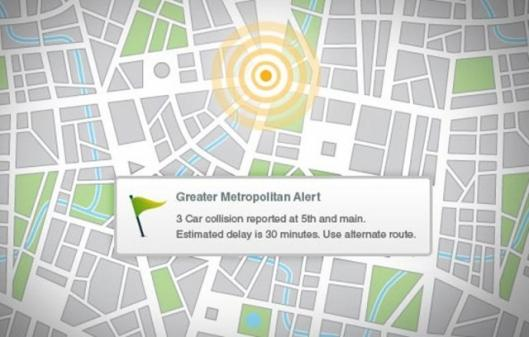 AwareSpot location based alert system for mobile phones