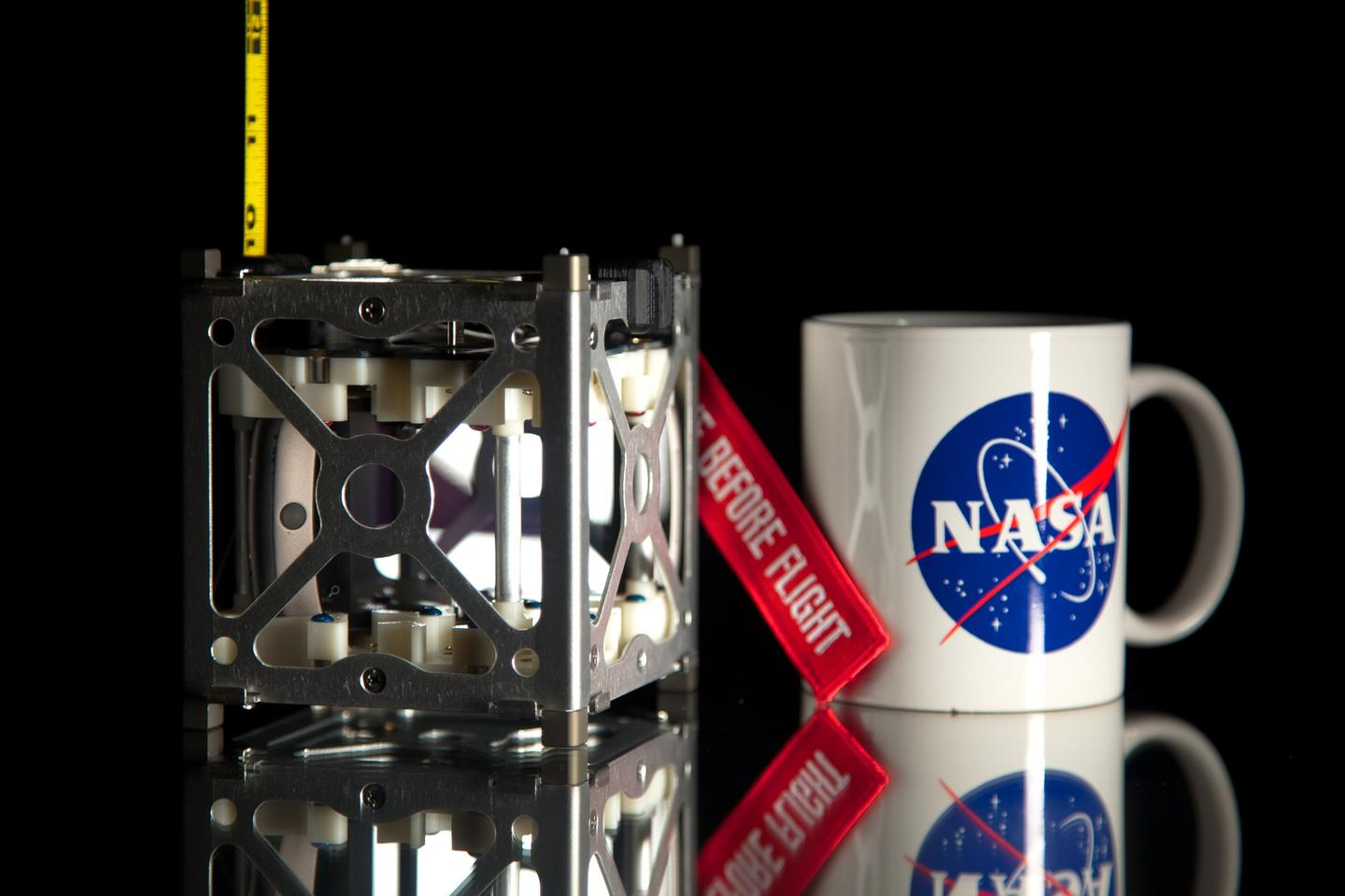The PhoneSats aren't much bigger than a coffee mug (Image: NASA)