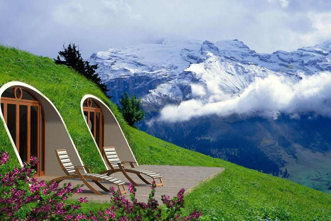 A rendering of an alpine Green Magic Home