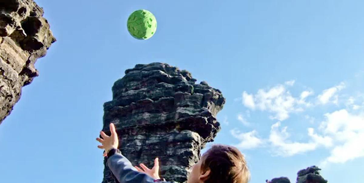 The ball camera snapping away (Photo courtesy Jonas Pfeil)