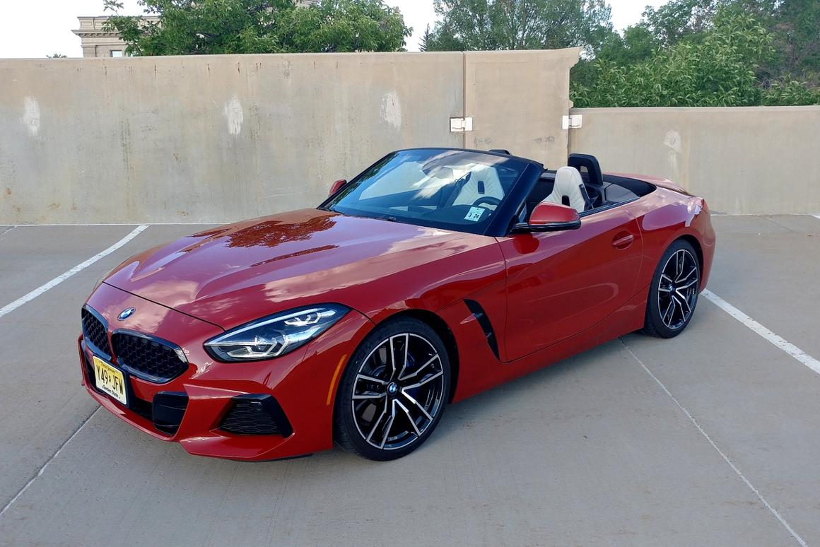 Few things make a middle-aged guy in cargo shorts (like the author)happier than a red convertible
