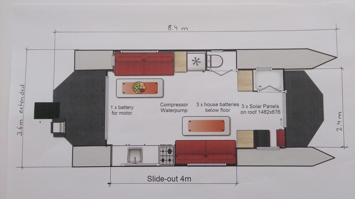 Dimensions, layout and equipment diagram
