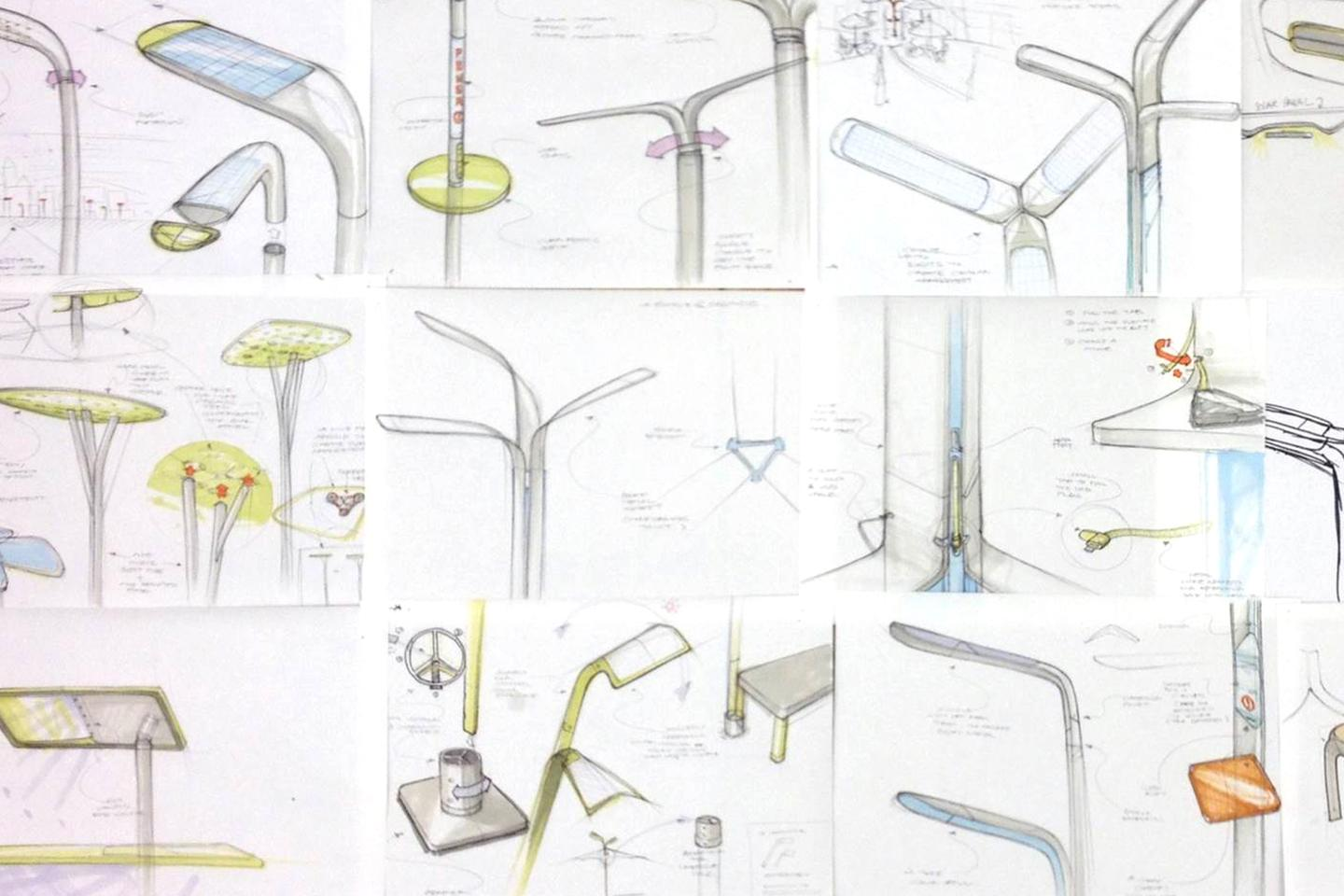 Pensa's early Street Charge design sketches