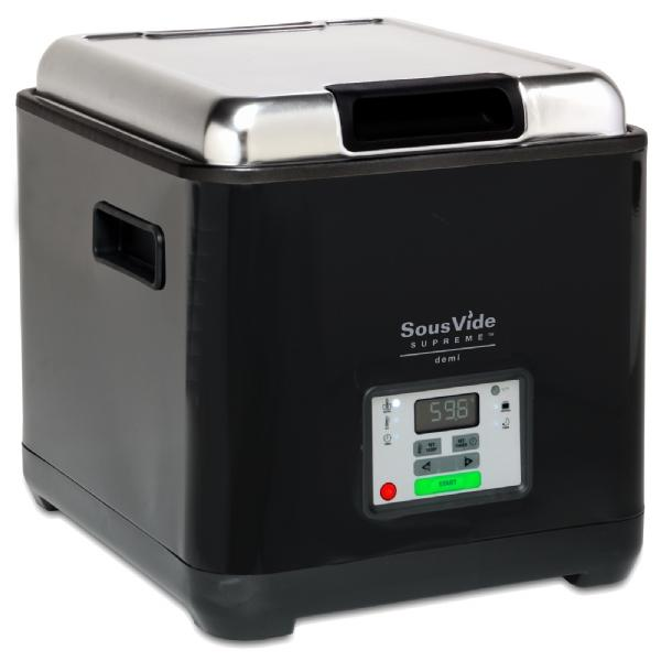 The SousVide Supreme Demi precisely controls food cooking temperatures