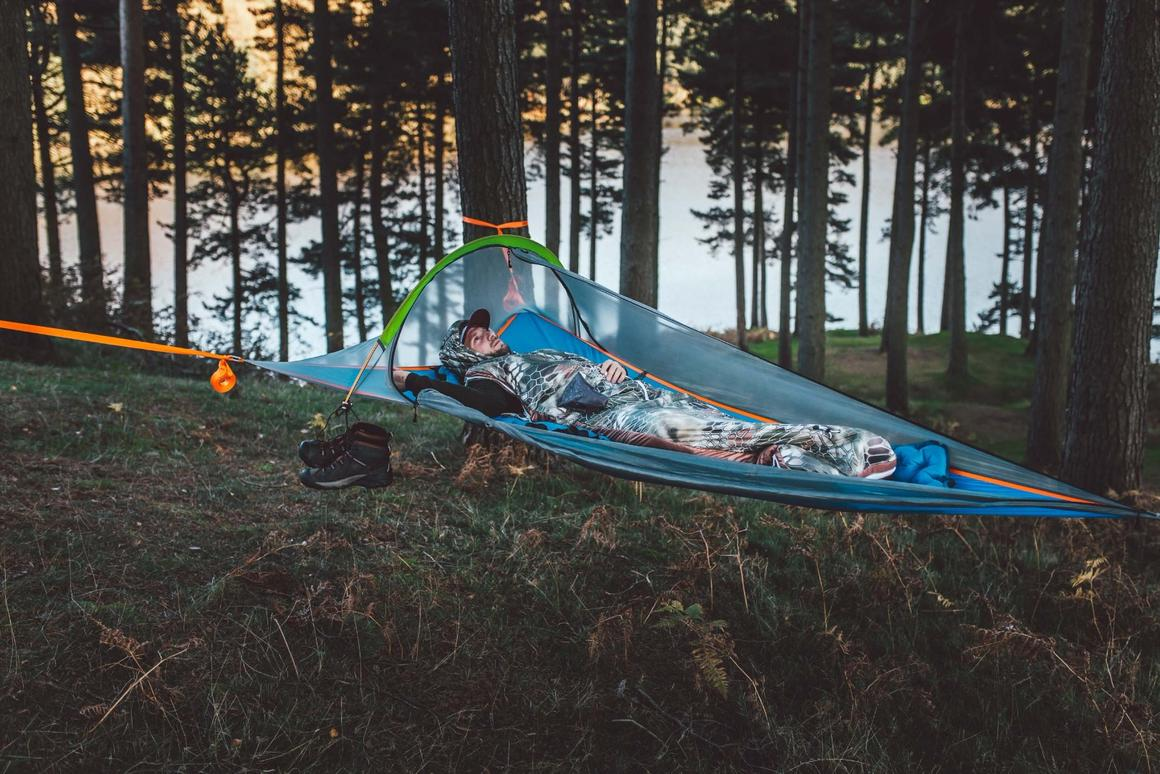 Tentsile shows the UNA, a three-season, one-person tent for the trees