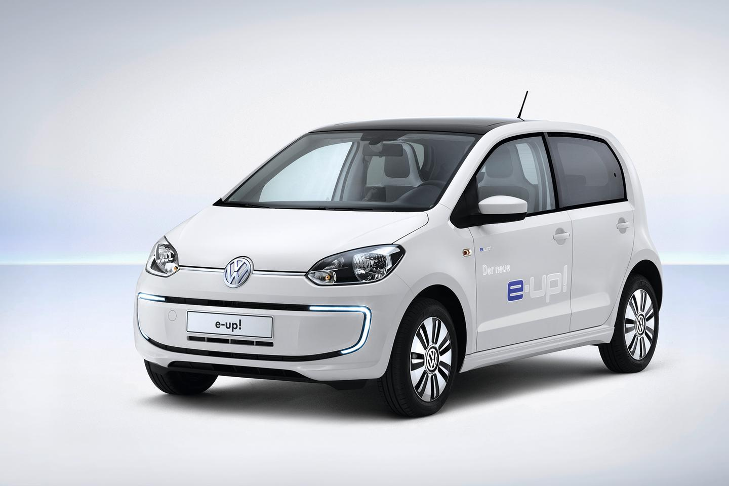 Volkswagen showed the e-up at its media conference this week