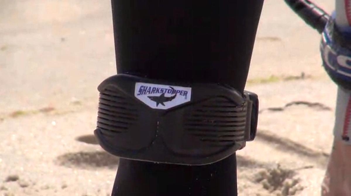 The SharkStopper PSR is worn on the ankle, and produces orca-like sounds