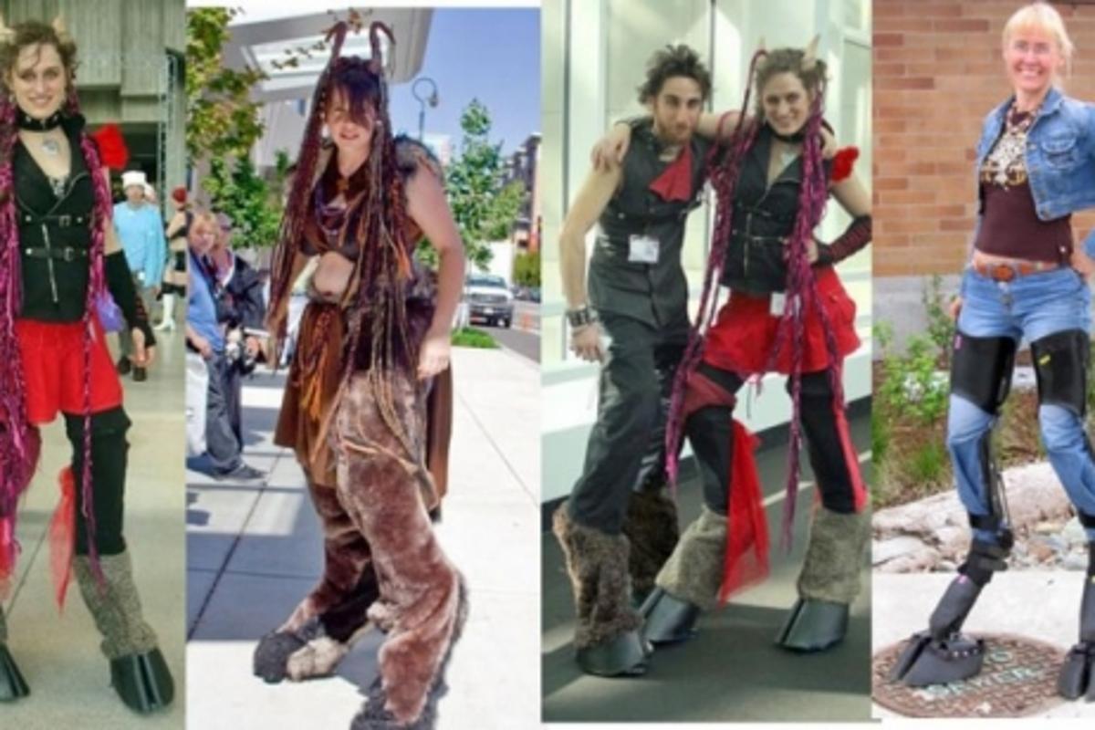Kim Graham's Digitigrade centaur legs costume