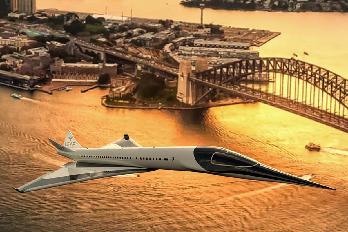 Leap's VTOL, supersonic, zero-carbon, ultra-quiet EON-01 airliner. Oh, it's a leap alright.