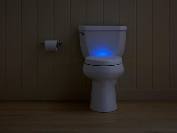 The Kohler Purefresh toilet seat also features a nightlight, but that's not its big claim to fame
