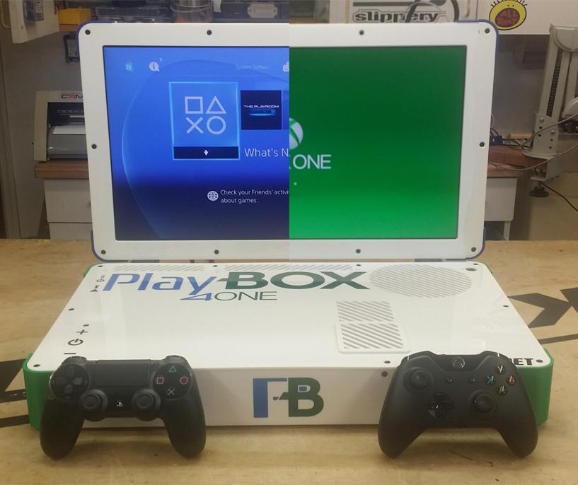 The PlayBox is a Playstation 4 and Xbox One hybrid laptop created by modder Edward Zarick (Photo: Edward Zarick)