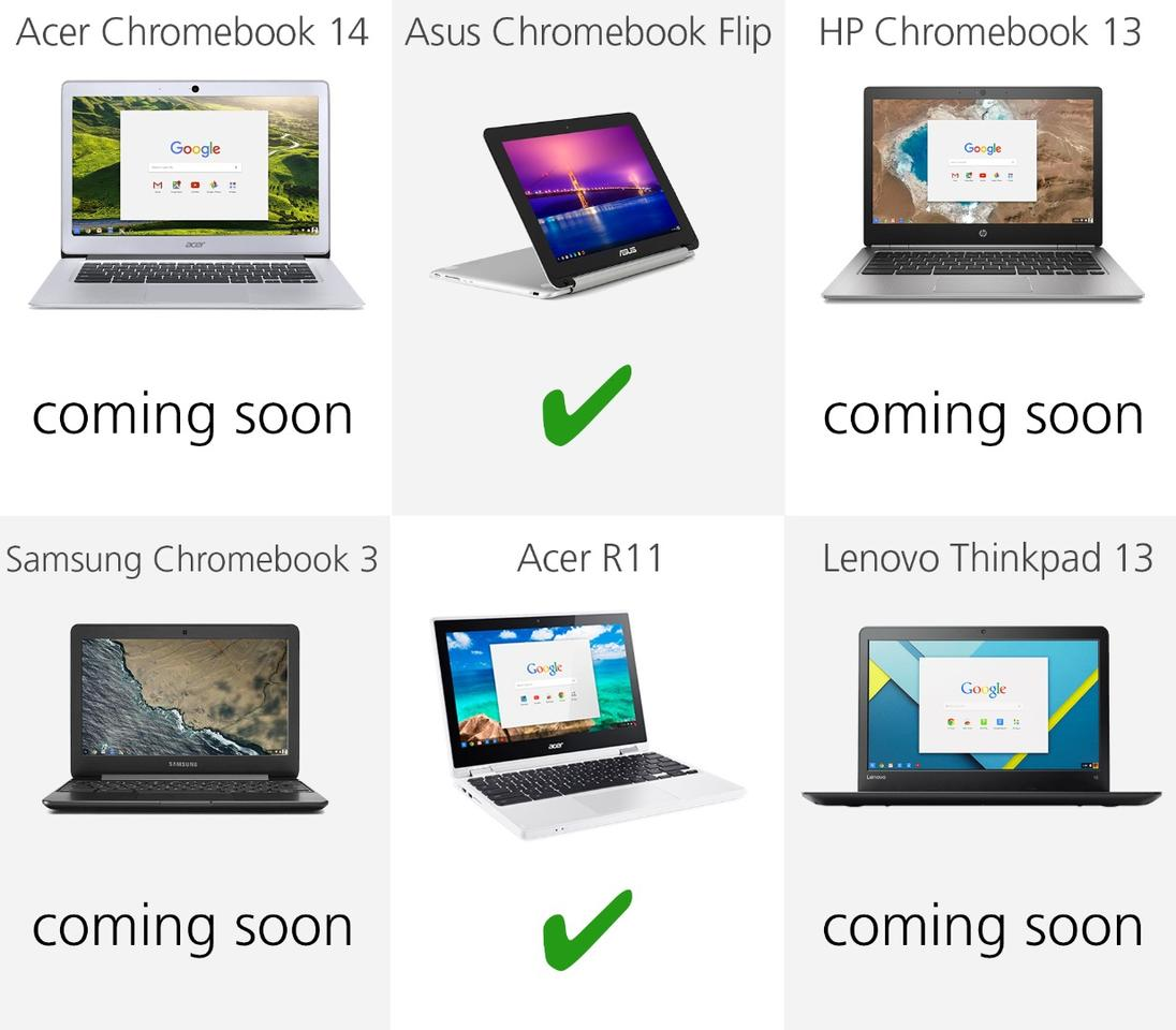 2016 Chromebook Comparison Guide