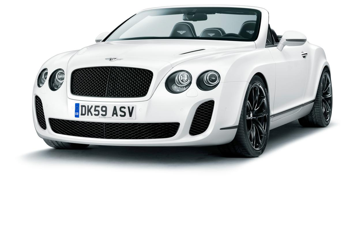 The new Bentley Supersports Convertible ... claimed to be the world's fastest four-seater drop top