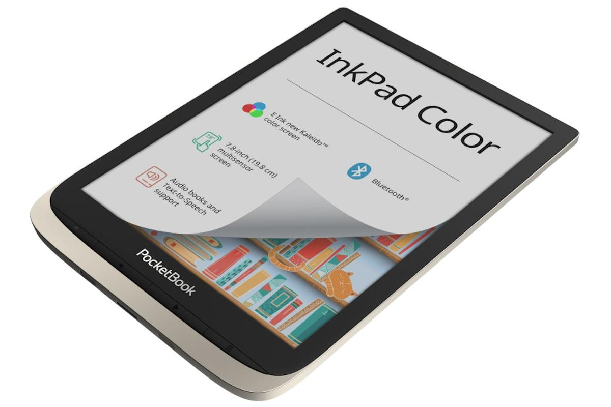 The InkPad Color is reported to be the first e-reader to use E Ink's 7.8-inch Kaleido display technology