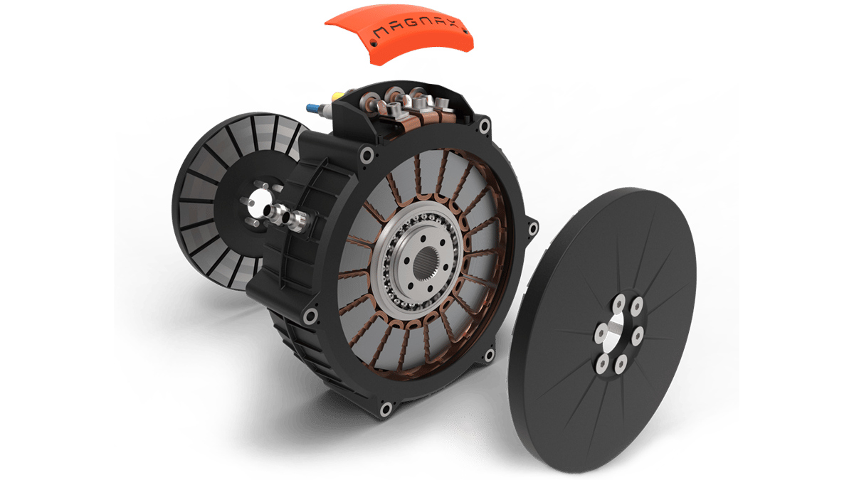 The Magnax yokeless axial-flux electric motor offers incredible power densities in what the manufacturer describes as a reliable, manufacturable and low-maintenance package