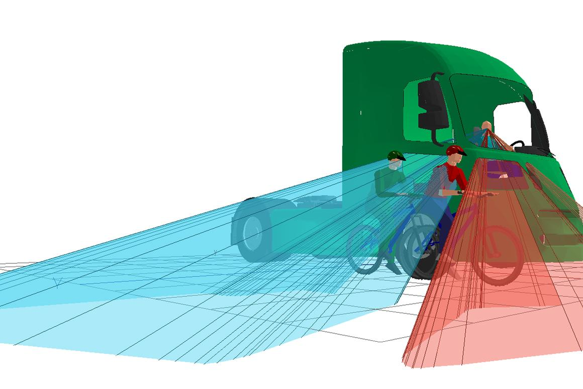 The new Direct Vision truck cab is designed to reduce blind spots