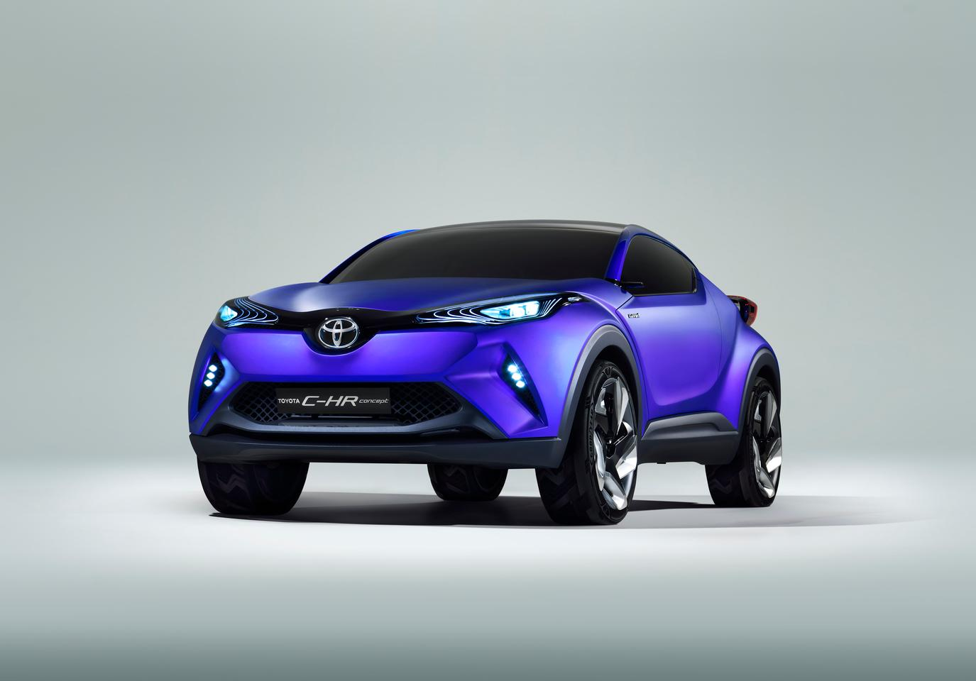 "Toyota says the C-HR's frontal treatment marks the ""introduction of themes which signal a future direction for Toyota vehicles"""