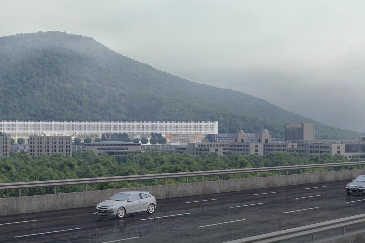 The Shenzhen Institute of Design will be located on the outskirts of Shenzhen, China, and is part of a huge development push in the area
