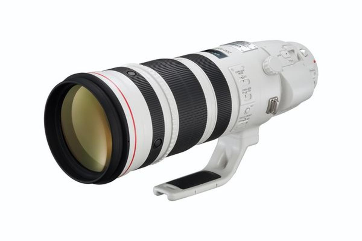 The Canon EF 200-400mm f/4L IS USM EXTENDER 1.4x lens with built-in 1.4x focal length extender