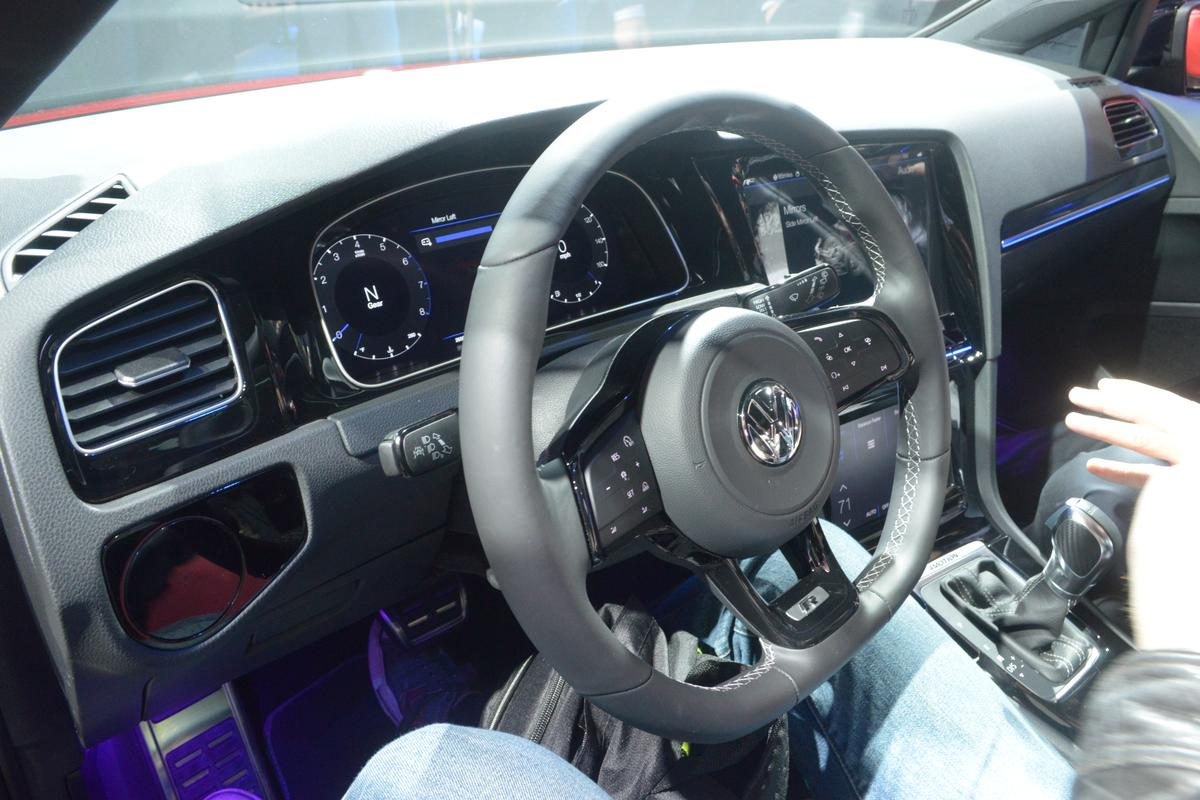 The VW Golf R Touch concept at CES 2015 (Photo: CC Weiss/Gizmag)