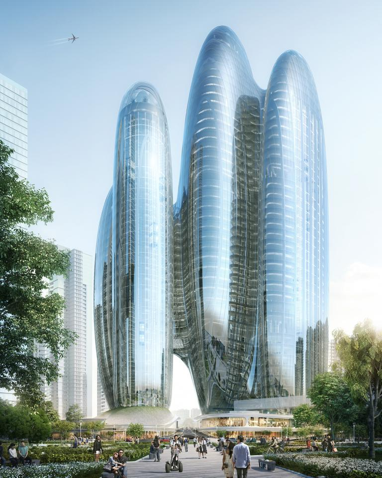 ZHA won the job to design Oppo's new headquarters following an international architecture competition