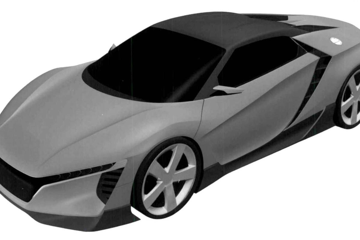 These CAD images reveal designs for a new mid-engined concept car that's yet to appear at any shows