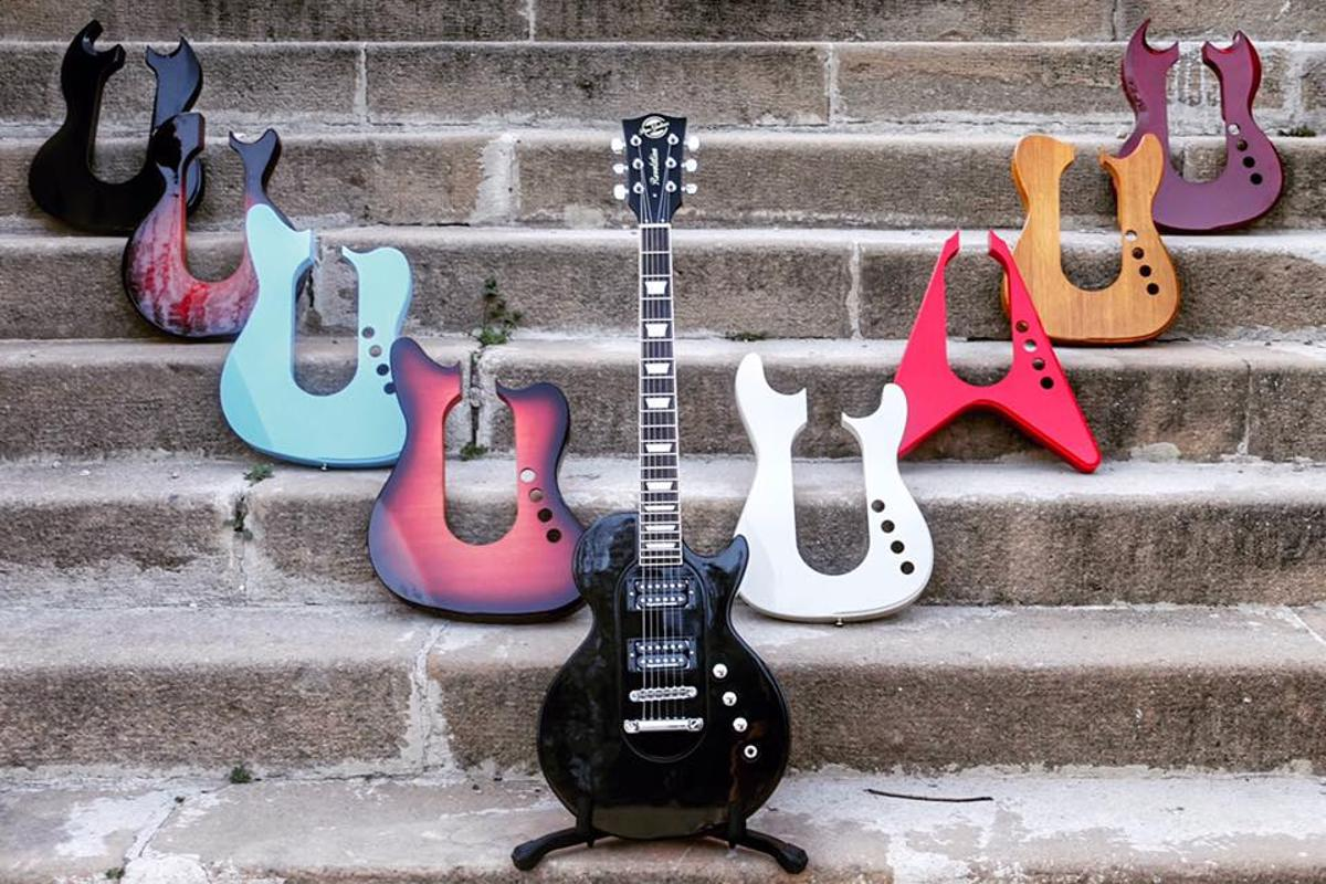 The Revolution guitar range is made up of two body cores and numerous snap-on body shapes