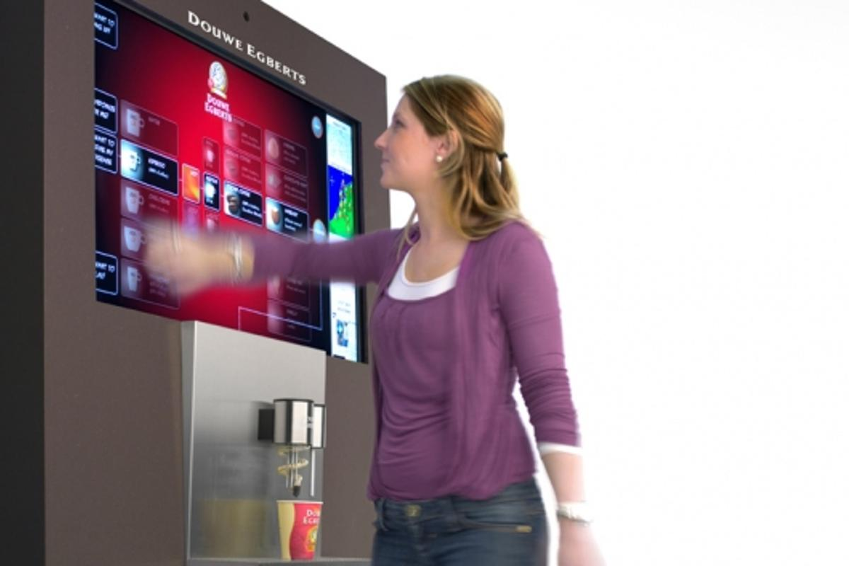 The BeMoved Office coffee machine - you can touch or jump for your favorite brew