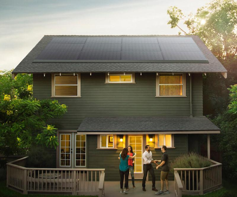 Tesla's new solar panels are made for existing roofs and can integrate easily with the company's home battery, the Powerwall